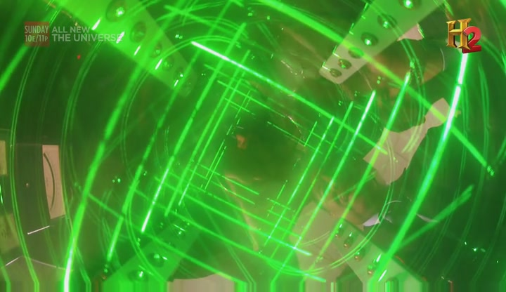 קרני הלייזר במכונת הזמן של מאלט (מבט מלמעלה)