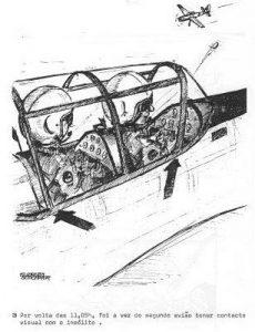 """העב""""ם כפי שנראה לשני הטייסים הנוספים, ליד מטוסו של גרא"""